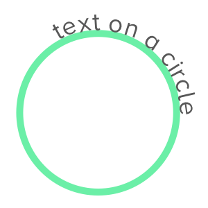Screenshot of a circle, with text flowing around the circle.