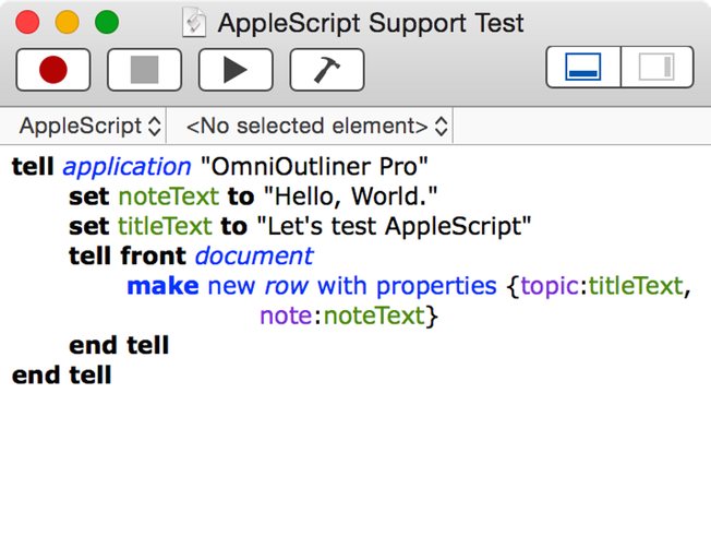 writing applescript