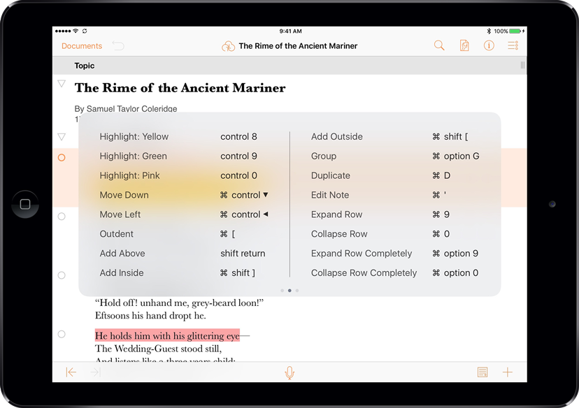 omnioutliner outlining writing for mac iphone and ipad the