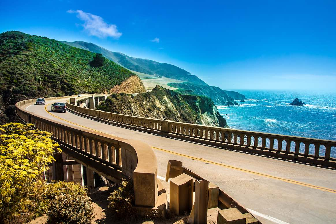 Highway from Big Sur to Monterey