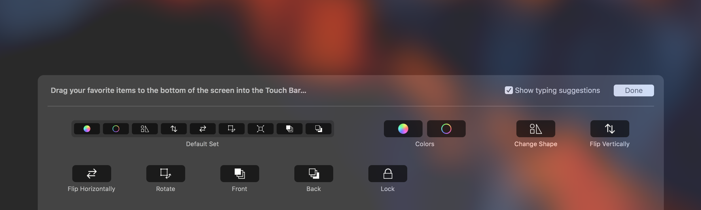 Customizing the Touch Bar