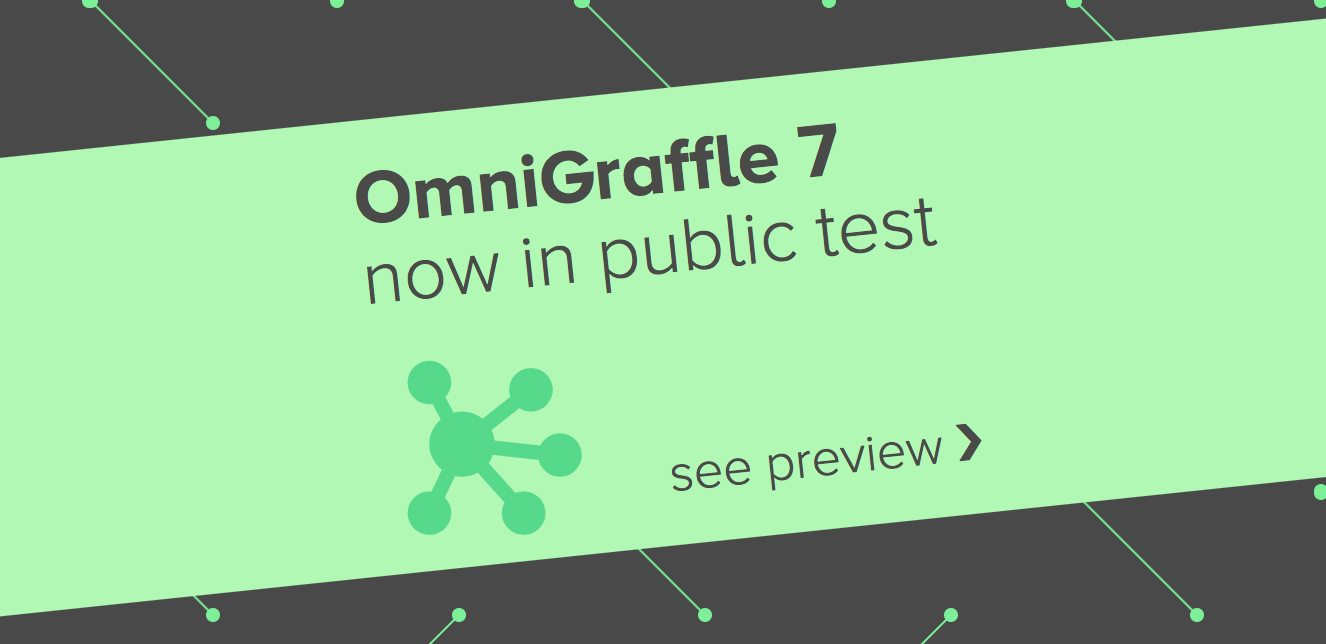 OmniGraffle 7 Blog Banner linking to the preview page