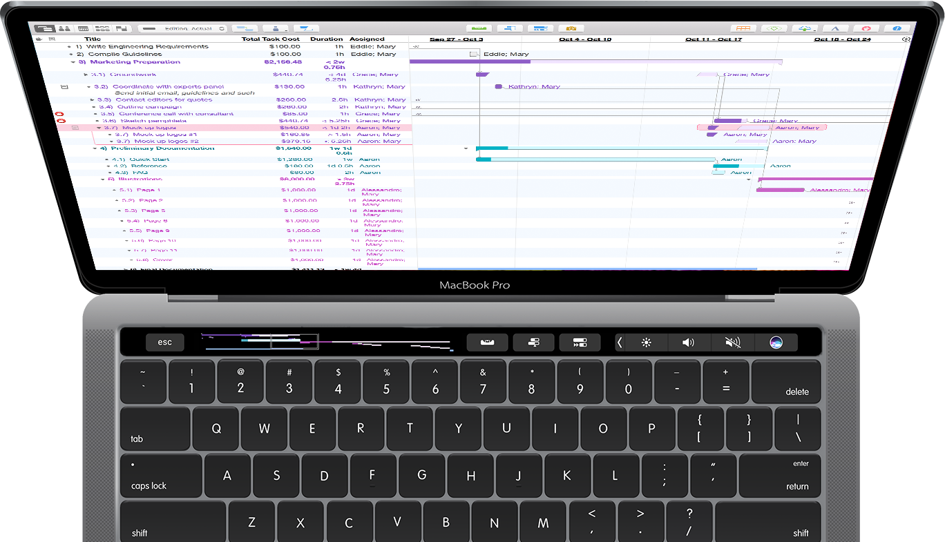 OmniPlan and Touch Bar