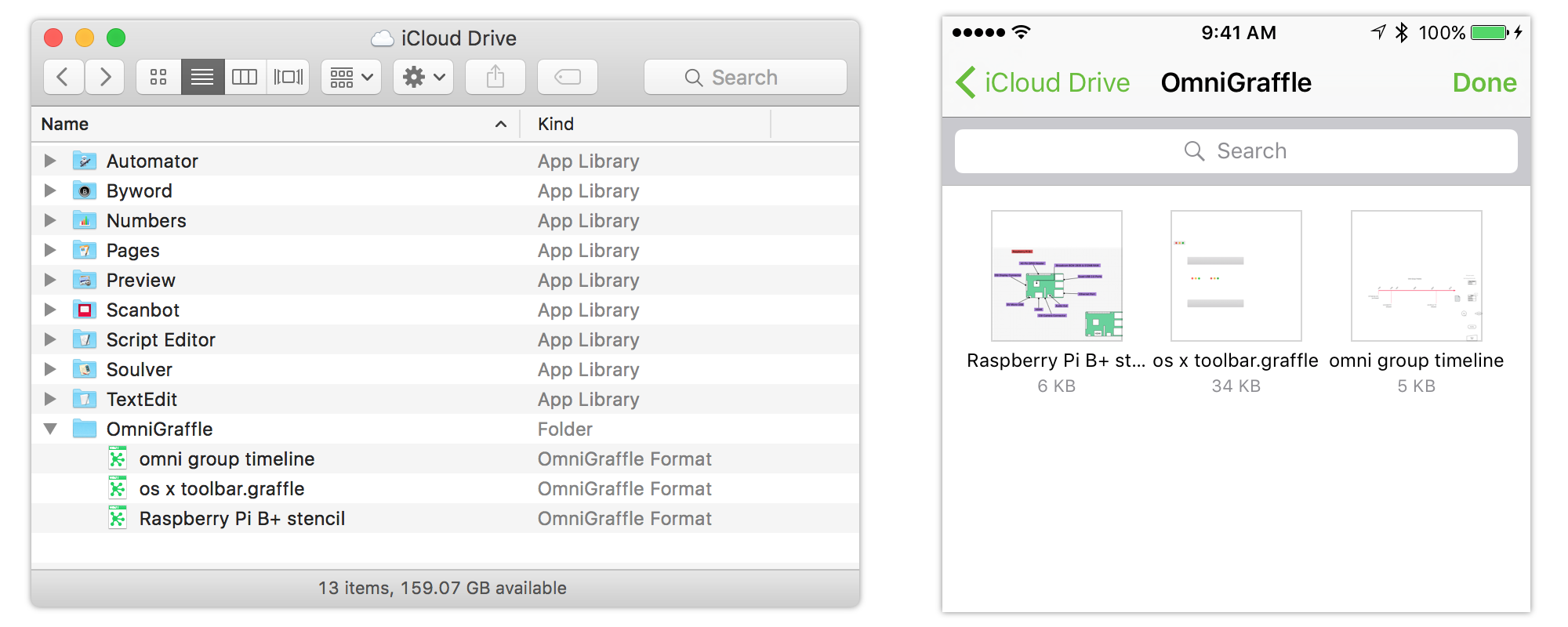Document Provider extension support in OmniGraffle 2.2 for iOS