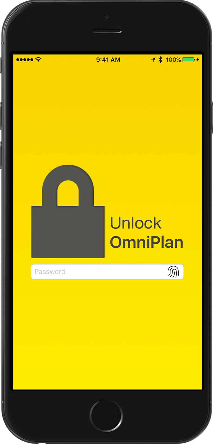 Use App Lock in OmniPlan for iOS to add a layer of protection to your projects